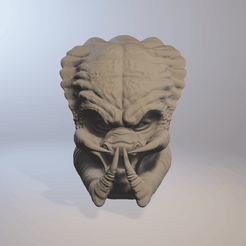 pred1.png Download STL file Predator head 3D model lifesize cosplay collection • 3D print design, PMF