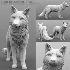 Red Fox Patreon Release 2.jpg Download STL file Red Fox • 3D printer object, LabradoriteWolf