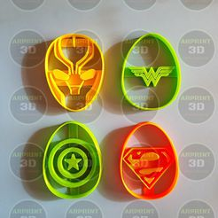 Photo_1553603021092.jpg Download STL file Easter cookies cutters marvel b / Easter cookies cutters marvel b • 3D print object, arprint3d
