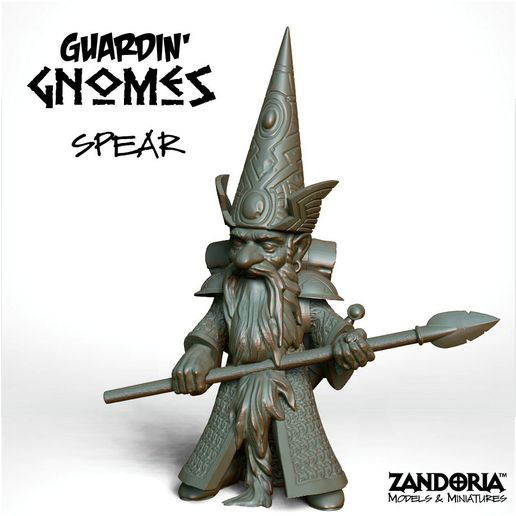 Guardin-Gnome_Spear.jpg Download STL file Gnome with Spear • 3D printing object, Zandoria