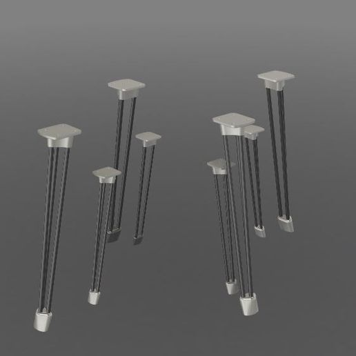 V2 Centre pieds.JPG Download STL file PING & PONG tables • Object to 3D print, MyVx35