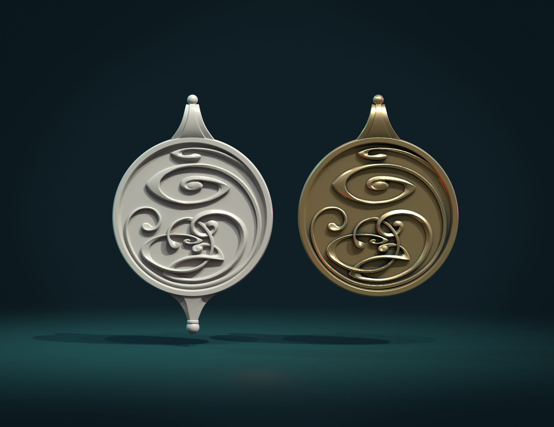 AbsPnd-02.jpg Download STL file Abstract Magic Pendant • Object to 3D print, Skazok