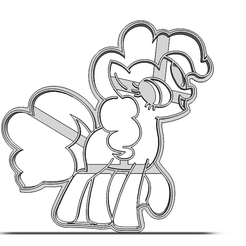 19-0246.png Download STL file Cookie cutter My Little Pony • 3D print object, CookieCutterBoss