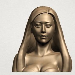 Beautiful Girl - Half Body A01.png Télécharger fichier STL gratuit Beautiful Girl - Half Body • Design pour imprimante 3D, GeorgesNikkei