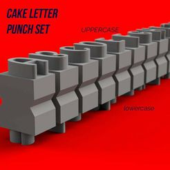 front2.jpg Download free 3MF file Cake Letters Punches/stamps • Object to 3D print, facusenn