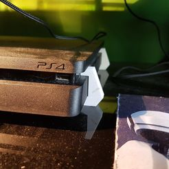 pied ps4 slim.jpg Download free STL file ps4 slim support • 3D printing object, nicototty