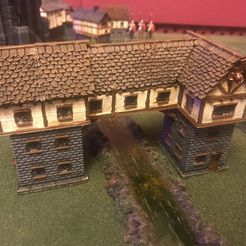 441ac93903e817b91668fd4357b76754_display_large.JPG Download free STL file Fantasy Wargames House / Building over River 15mm • Template to 3D print, BigMrTong