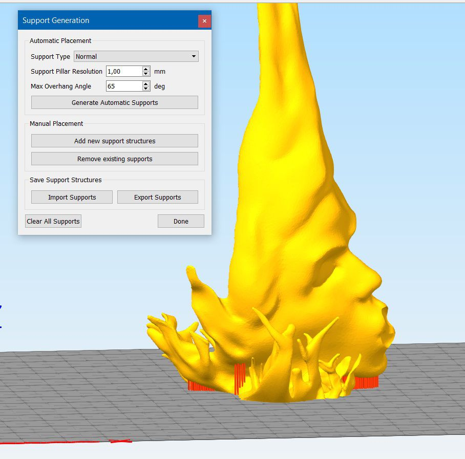 He_support_example.jpg Download OBJ file Coffee Kiss optimized for 3D PRINTING • 3D print model, Stikka_Design