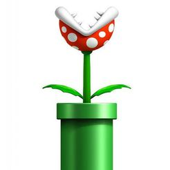 0b6ef61b10902af907f75c140d9f109e_preview_featured.jpg Download free STL file Mario bros plant • Design to 3D print, goncastorena