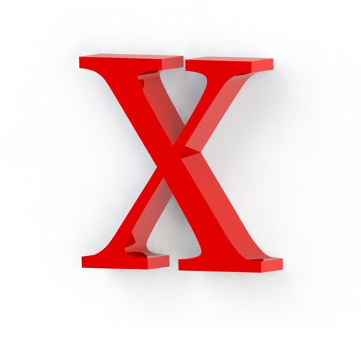 X2.png Download free STL file Letras / abecedario completo • Object to 3D print, Lubal