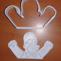 20181022_183901 (2).jpg Download free STL file Homer Cookie Cutter • Model to 3D print, sskio