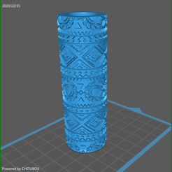 aztec_4.png Download STL file 4 xAztec textured rolling pins stamps   • 3D printing object, rebeccaljones