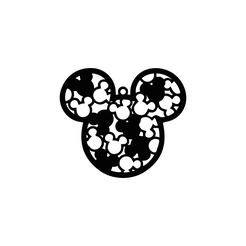 Mickey-Llavero.png Download STL file Mickey Mouse key chain or wall picture • 3D printer object, Zip3D