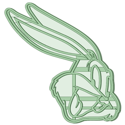 bugs bunny_1.png Download STL file Bugs Bunny cookie cutter • 3D printable object, osval74