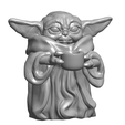 BABY-YODA-SOUPE.png Download free STL file BABY YODA - BABY YODA SOUP • Template to 3D print, lucamaximiliano2