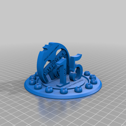 PIEZAcomleta.png Download free STL file Birthday candleholder Valencia • 3D printable model, Garkof