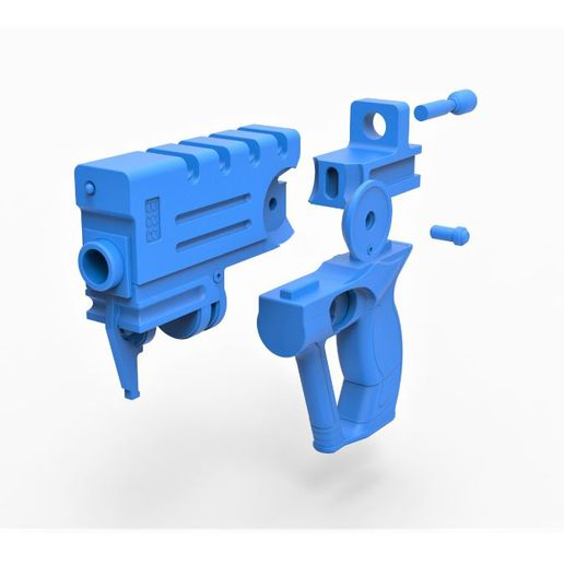 14.JPG Download STL file Blaster of Korben Dallas from movie The Fifth Element • 3D printable design, CosplayItemsRock