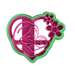 Dia-de-las-madres.png Download file COOKIE CUTTER / FONDANT MOTHER'S DAY • 3D printing object, JoseTecpa