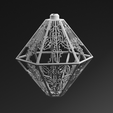 snowflake_lamp_final_02.png Download STL file 3D printed lamp pendant with unique light effects • Object to 3D print, BenJavor
