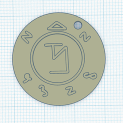 benis.png Download free STL file Supernatural Benishing keychain • 3D printable template, abaialex2244
