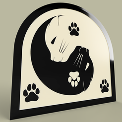 ying_yang_cat_v1.png Download free STL file Ying Yang Cat • 3D print template, yb__magiic