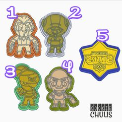 1.jpg Download STL file Brawl Stars Cookie Cutters (Set of 5) • 3D printer object, StratOasiS