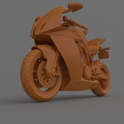 9.jpg Download free STL file KTM 1190 RC8 2011-2015 Motorcycle Ready for Print • Object to 3D print, Sim3D_