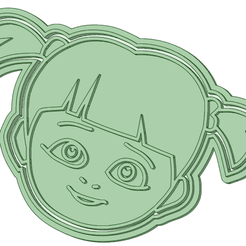 Boo_75_e.png Download STL file Boo face 75mm cookie cutter • 3D printing design, osval74