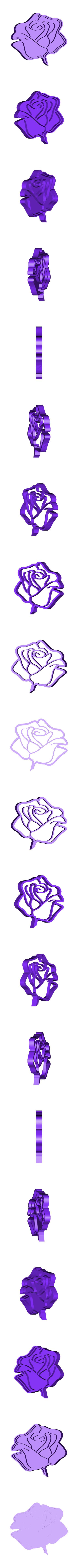 Rosa 3 - copia.stl Download STL file Rose 3 cookie cutter • 3D printable template, osval74