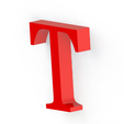T2.png Download free STL file Letras / abecedario completo • Object to 3D print, Lubal