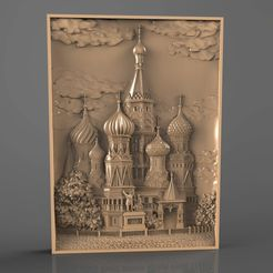 Panno_08.jpg Download free STL file russian city moscow cnc art • 3D printer model, 3Dprintablefile