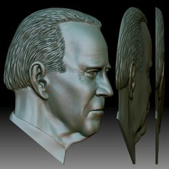 Biden 3D portrait Bas-relief for CNC router or 3D printer square.jpg Download STL file Biden portrait relief for CNC router or 3D printer • 3D printing model, voronzov