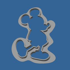 Cookies_cutter_mickey.JPG Download free STL file Cookie_cutter_Mickey • 3D print design, BOUVERAT3DPrint