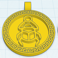1_0.png Download free STL file Egyptian Medallion beetle • Object to 3D print, oasisk