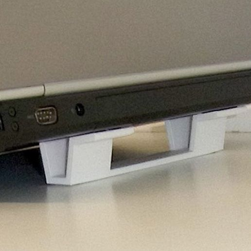 "rear_display_large.jpg Download free STL file ""Tilt Bar"" angles Laptop Keyboards for improved comfort, ease of use and convenience • 3D printing design, Muzz64"