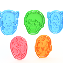 Screenshot_1.png Download STL file Marvel cookie cutter set of 5 • 3D printable object, roxengames