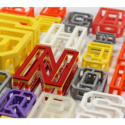 cba7b0d8fa7de7483d50faaf10d52855_preview_featured.jpg Download STL file BEAM 3D printable Typeface • 3D printable object, AlexWaterson