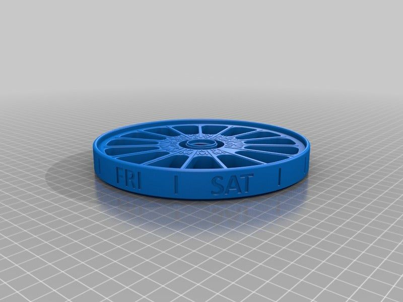 dac9e7575354d62daa36fd618c116109.png Download free STL file Pill Box with AM\PM Apertures • 3D print design, boothyboothy