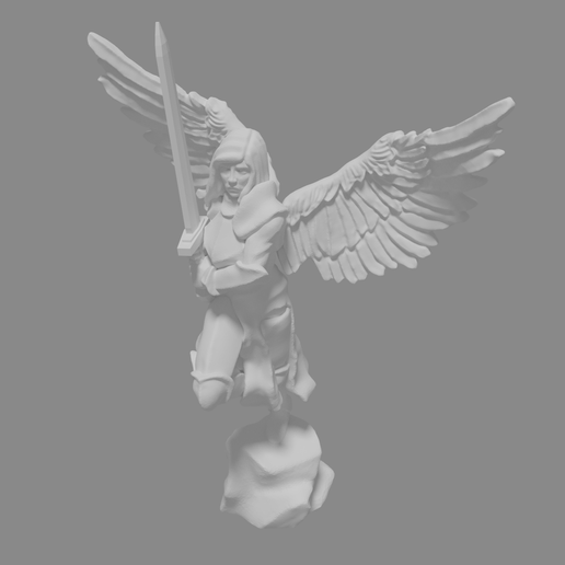archangel_pitcure.png Download free STL file Archangel Miniature • 3D print object, Ilhadiel