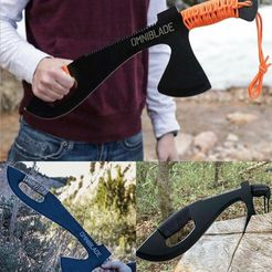 techknowledge__-20210313-0001.jpg Download STL file Omniblade Machete Multitool with Sheath - 3-in-1 Survival Tool Including Machete Knife Tactical Tomahawk and Survival Saw real size • 3D print object, Ghariani3