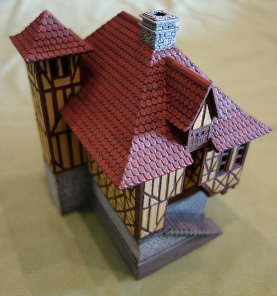P01.jpg Download STL file Normandy style house • 3D printing model, 3decors