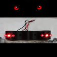 Fears Face.jpg Download STL file Red Eyes repeller- repellent predators include code ARDUINO • Design to 3D print, SlotED