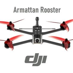 rooster render front pers.JPG Download STL file DJI FPV - Armattan Rooster Ultimate Conversion Kit • Design to 3D print, bopiloot