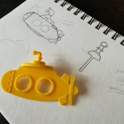 17077015_1323941367649298_1128055035532410880_n.jpg.jpg Download STL file Yellow submarine bookmark • 3D print model, Faivre