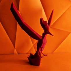 moltres.png Download STL file Moltres Low Poly Pokemon • 3D printable template, 3D-mon