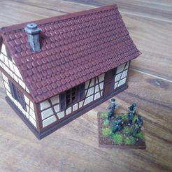 P01.jpg Download STL file Small timbered house • Design to 3D print, 3decors
