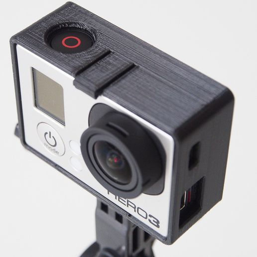 P4180109_display_large.jpg Download free STL file GoPro Hero3 mounting frame (Black Edition) • Template to 3D print, Rowynolon