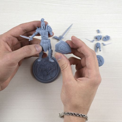 January-2021-Patreon-release-by-My3DPrintForge-25.jpg Download STL file Human Warrior STL 32mm and 75mm pre-supported • 3D printing template, My3DprintFORGE