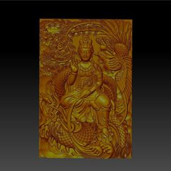 guanyin_with_dragon_and_phoenix1.jpg Download free STL file guanyin with dragon and phoenix • 3D print model, stlfilesfree