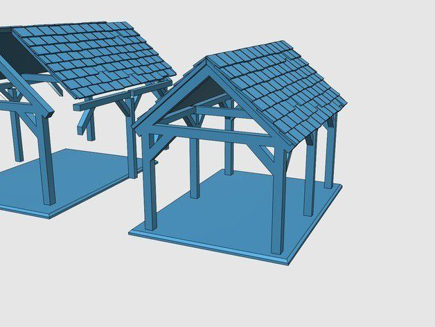 239a0018d8cb3da7dfc6259827955160_preview_featured.jpg Download free STL file Saxon Barn 1 • Design to 3D print, Earsling